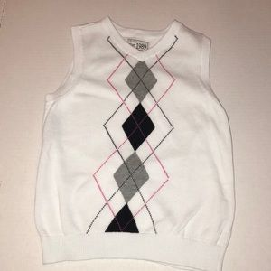 The Children's Place Argyle Sweater Vest Size 4T